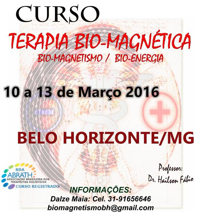 Curso Terapia Bio-Magnética em Belo Horizonte - 10 a 13 de Março
