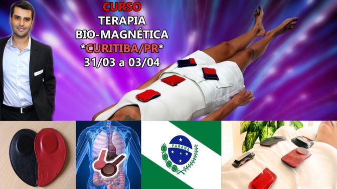 Curso Terapia Bio-Magnética em Curitiba/PR - 31 de Março a 03 de Abril