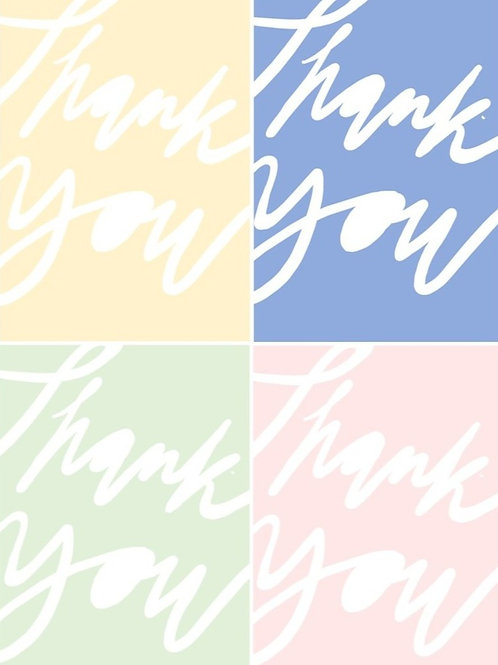Thank you cards - pack of ten