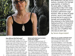 Australian Yoga Journal interview with Jennifer Groves