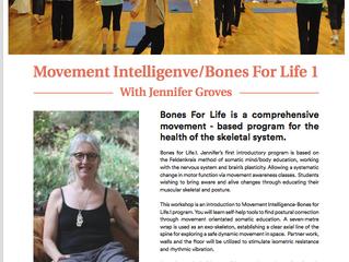 Movement Intelligence/Bones for Life.1 workshop.  Feb 2019