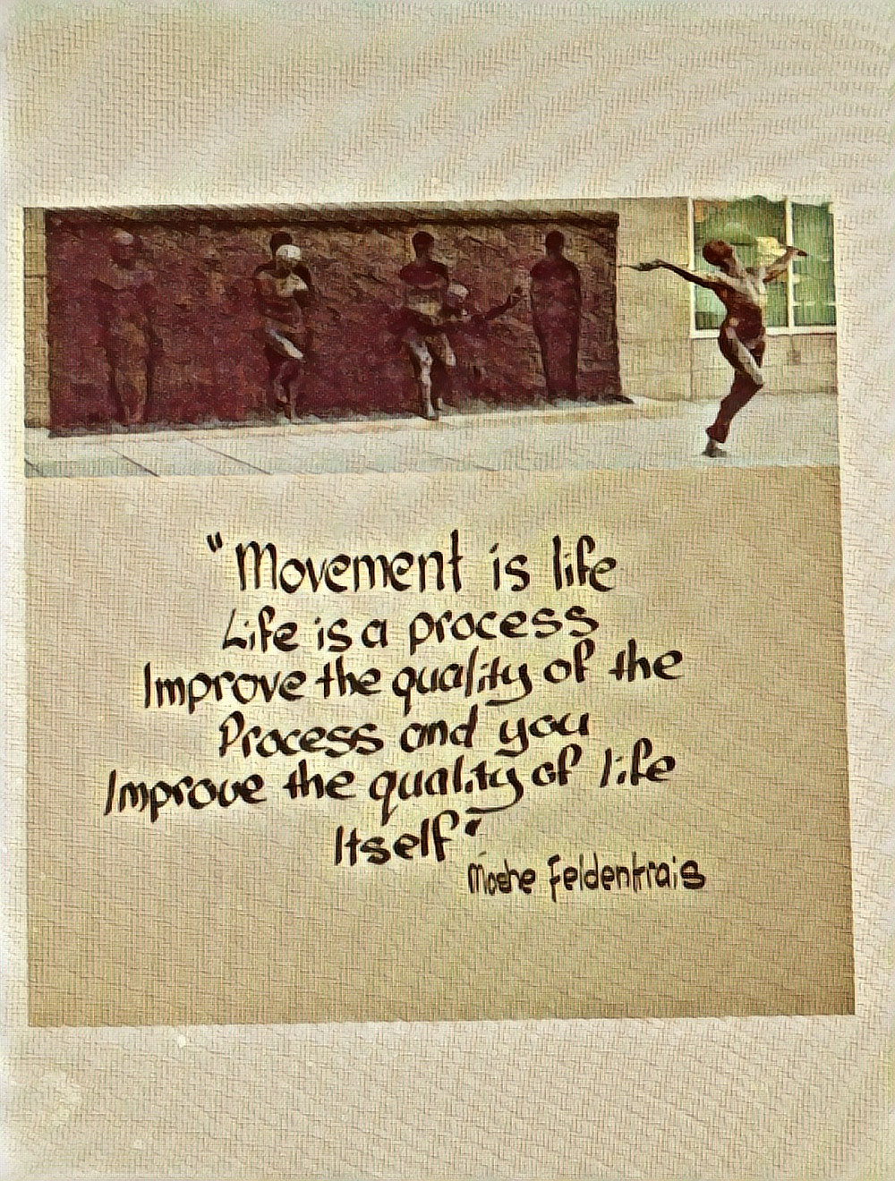 A quote by Moshe Feldenkrais