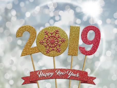 Tous mes vœux pour 2019 !!