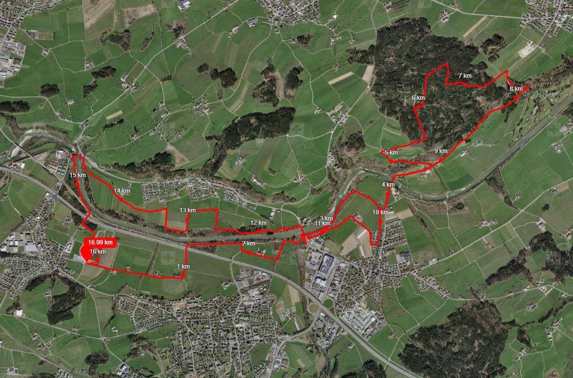 Strecke 10 Meilen