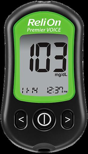 ReliOn Premier Voice Meter with green le