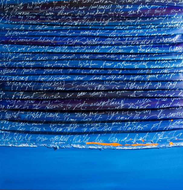"""""""Blue Tidal Bore"""" 24 x 24"""