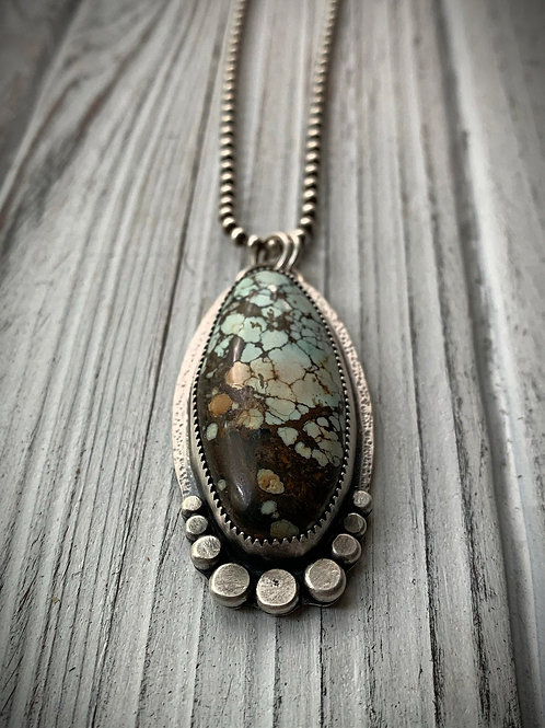 Hubei Turquoise Sterling Silver Statement Necklace