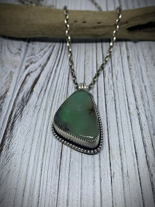 Amazing Chrysoprase Sterling Silver Necklace