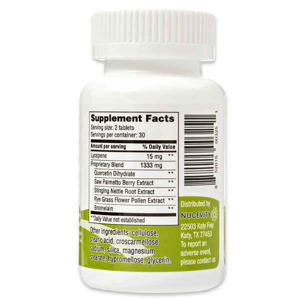 Prostate Plus Supplement Facts