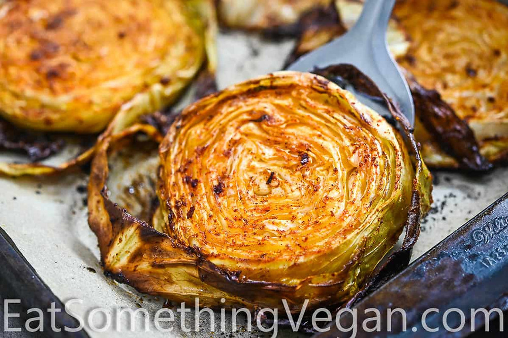 roasted cabbage steak healthy holiday food