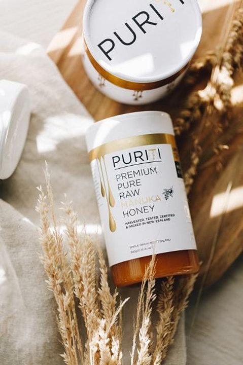 דבש מנוקה גולמי 100% טהור  500 גרם - פיוריטי תוצרת ניו זילנד