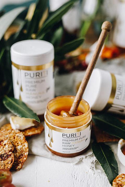 דבש מנוקה גולמי 100% טהור 250 גרם - פיוריטי תוצרת ניו זילנד