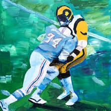Earl Campbell Runs Over The Rams