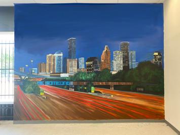 Houston Skyline Mural