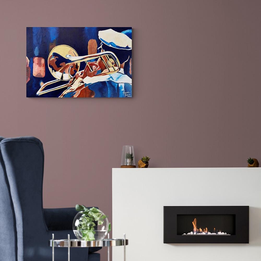 That Jazz Man. Painting by Lauren Luna
