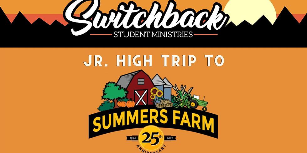 Jr. High Trip to Summers Farm