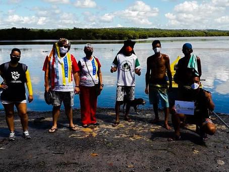Focuartes e Startup Coletivo Enxame plantam mudas de mangue vermelho na APA Santa Rita