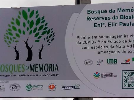 Mais um Bosque da Memória, o Bosque Enfermeira ELIR PAULA - Murici-AL