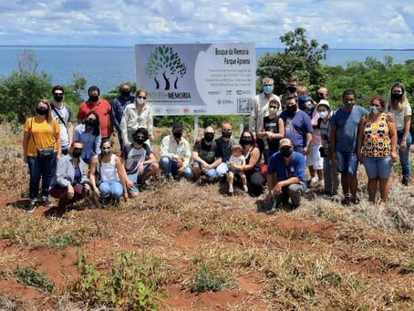 Projeto 'Bosques da Memória' em Presidente Epitácio recebe as primeiras mudas de árvores
