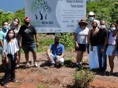 Plantio feito no município de Presidente Epitácio - SP -Bosque da Memória Parque Apoena