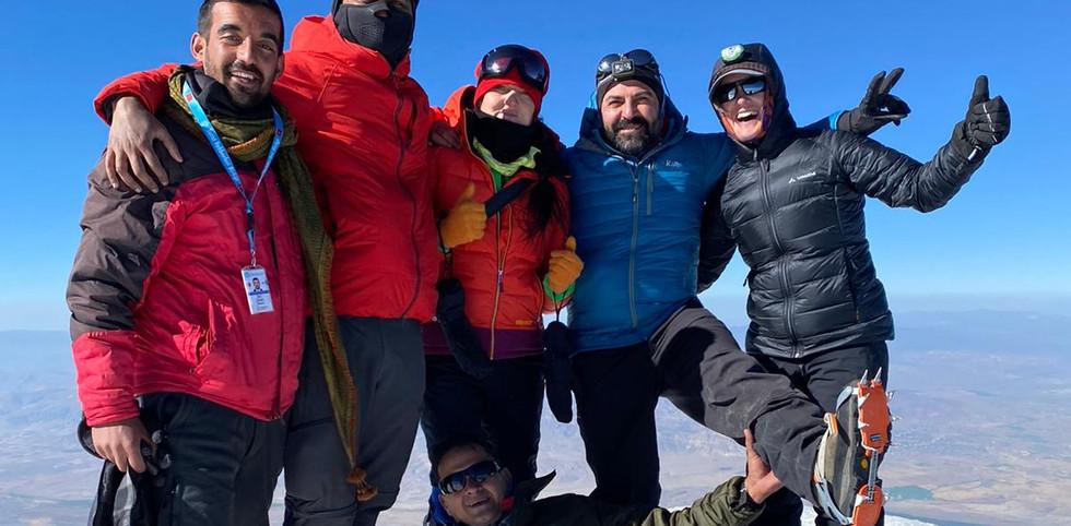 Team Climbing Mount Ararat In Turkey