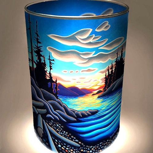 """""""Island Sunset"""" Candle Holder"""