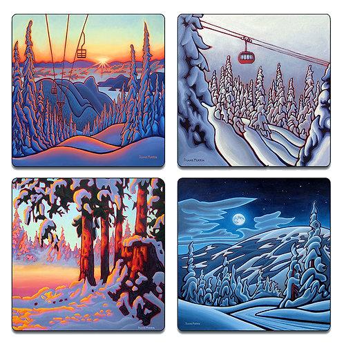 """Winter"" Coaster Set"