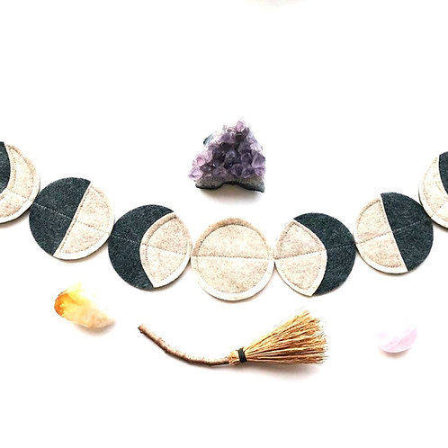 """Moon Phase"" Felt Garland"