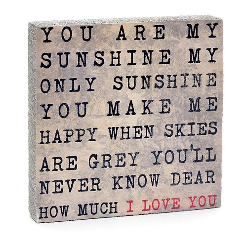 """You are my Sunshine"" Art Block"