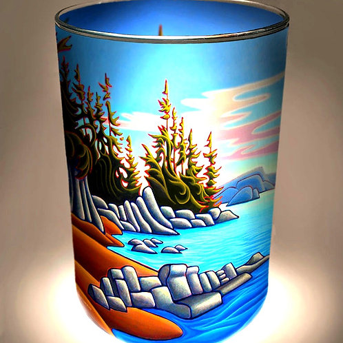 """Vancouver Island"" Candle Holder"