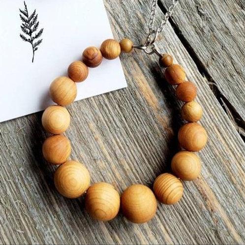 Cedar Wood Circle Necklace