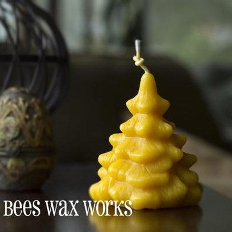 """Spruce Tree"" Bee Wax Candle"