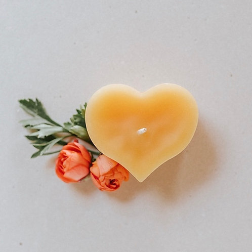 """Heart"" Bees Wax Candle"