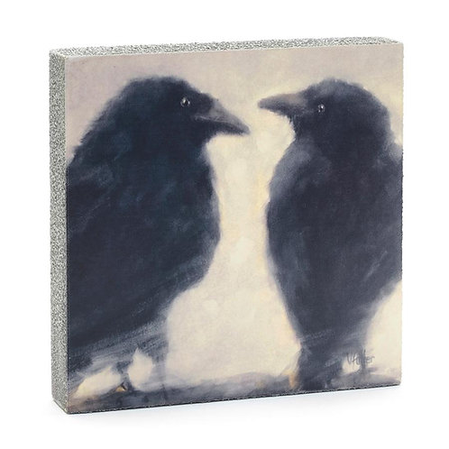 """Talking Ravens"" Mini Art Block"