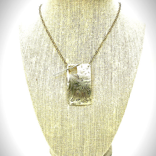 Silver Plated Necklace w/Front Clasp