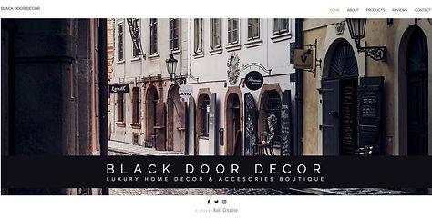 Website Design for Designer Decorator