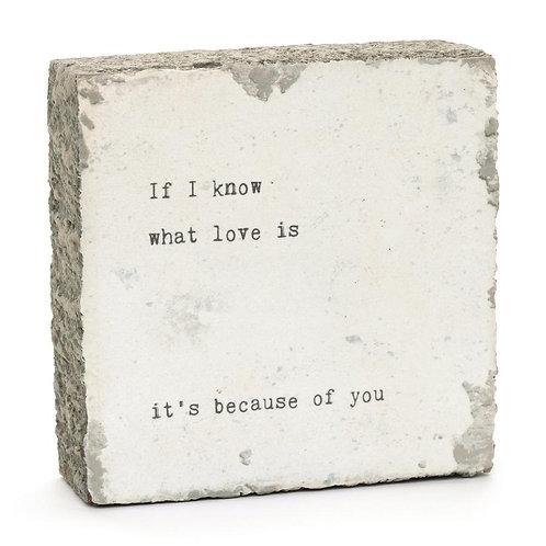 """""""If I Know"""" Mini Art Block"""