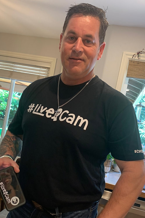 T-shirt #LiveForCam / #CureDIPG