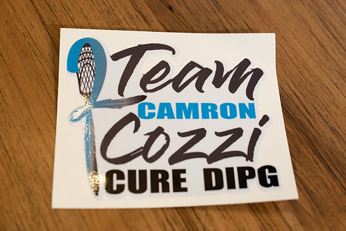 Team Camron Cozzi Cure DIPG Decal