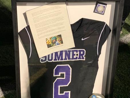 Sumner High School retires lacrosse jersey #2 in honor of Camron