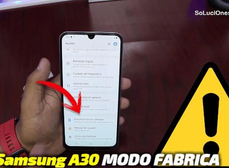 Formatear Samsung A30 de Fabrica | Desbloqueo GENERAL