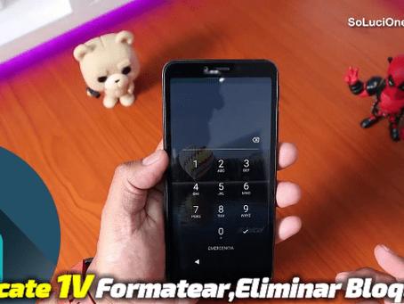 Formatear Alcatel 1V | Alcatel 5001a Eliminar bloqueo
