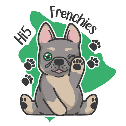 Hi5 Frenchies Logo Design