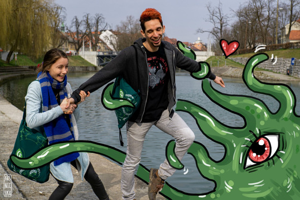 Tentacle love - Cthulhu bags