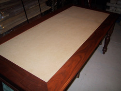 Full size desk ready for Leather Top