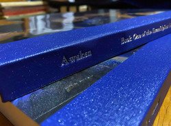 Awaken Hand Stitched, Buckram Spine with Silver Tooling