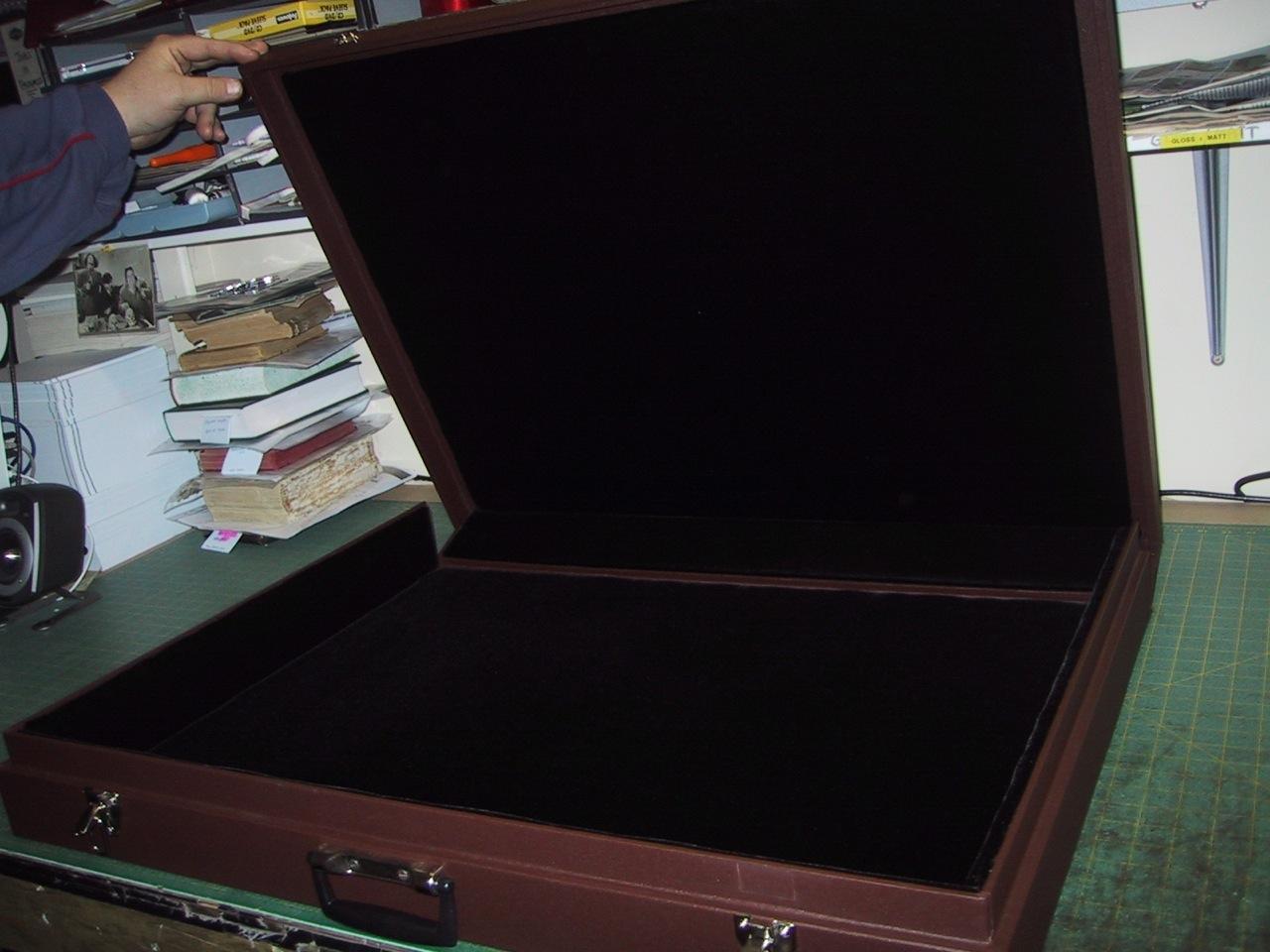 Solander Box Custom Bound OPEN