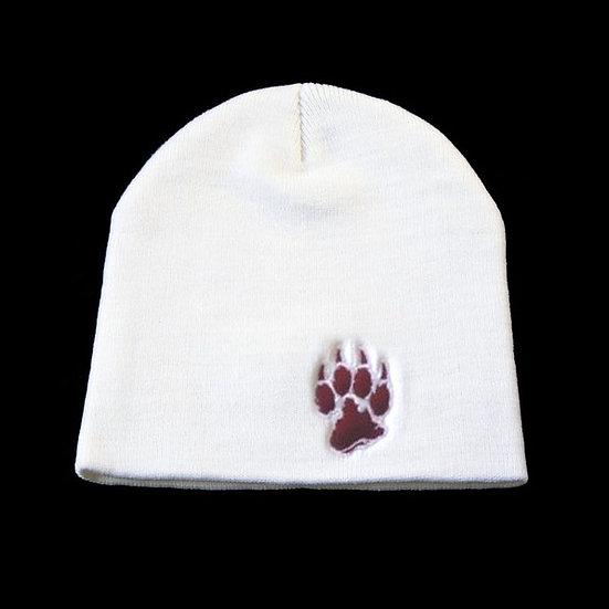 Tuque blanche avec logo de La Meute(rouge)(La Garde)