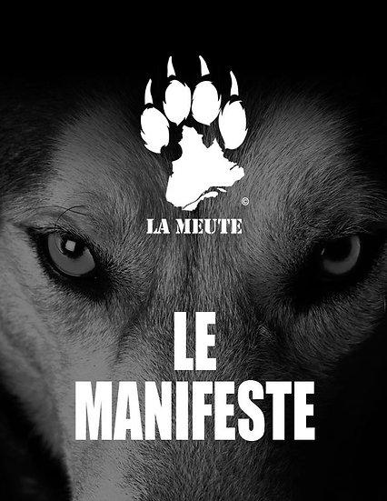 5 copies du Manifeste de la Meute, impression de qualité
