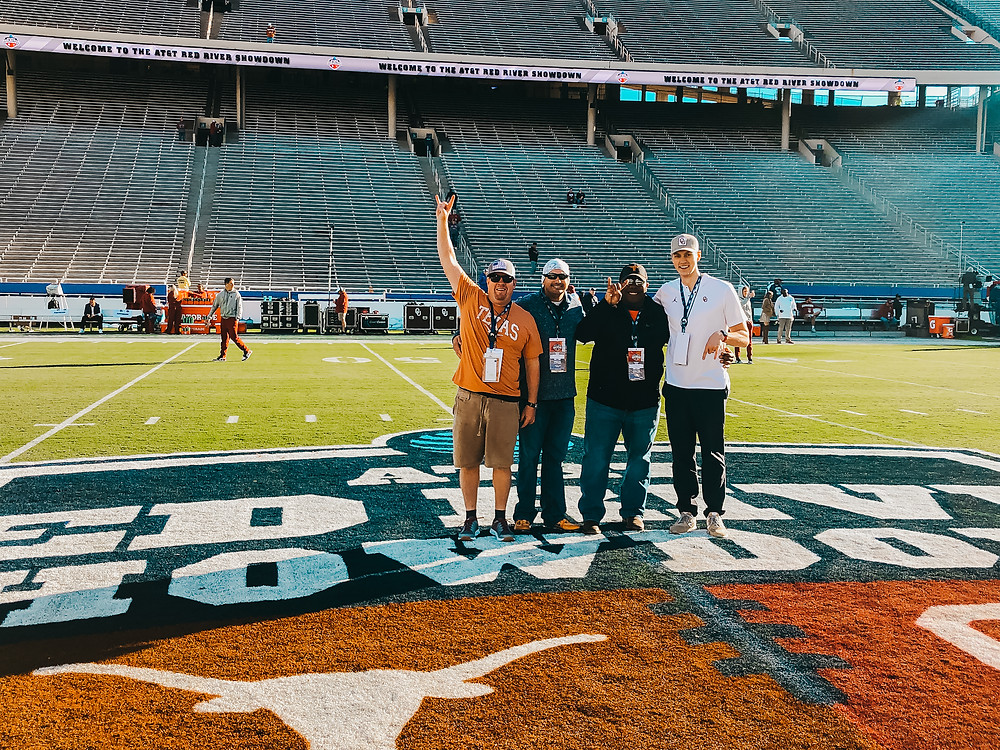 Clients On-Field at Red River Rivalry Showdown